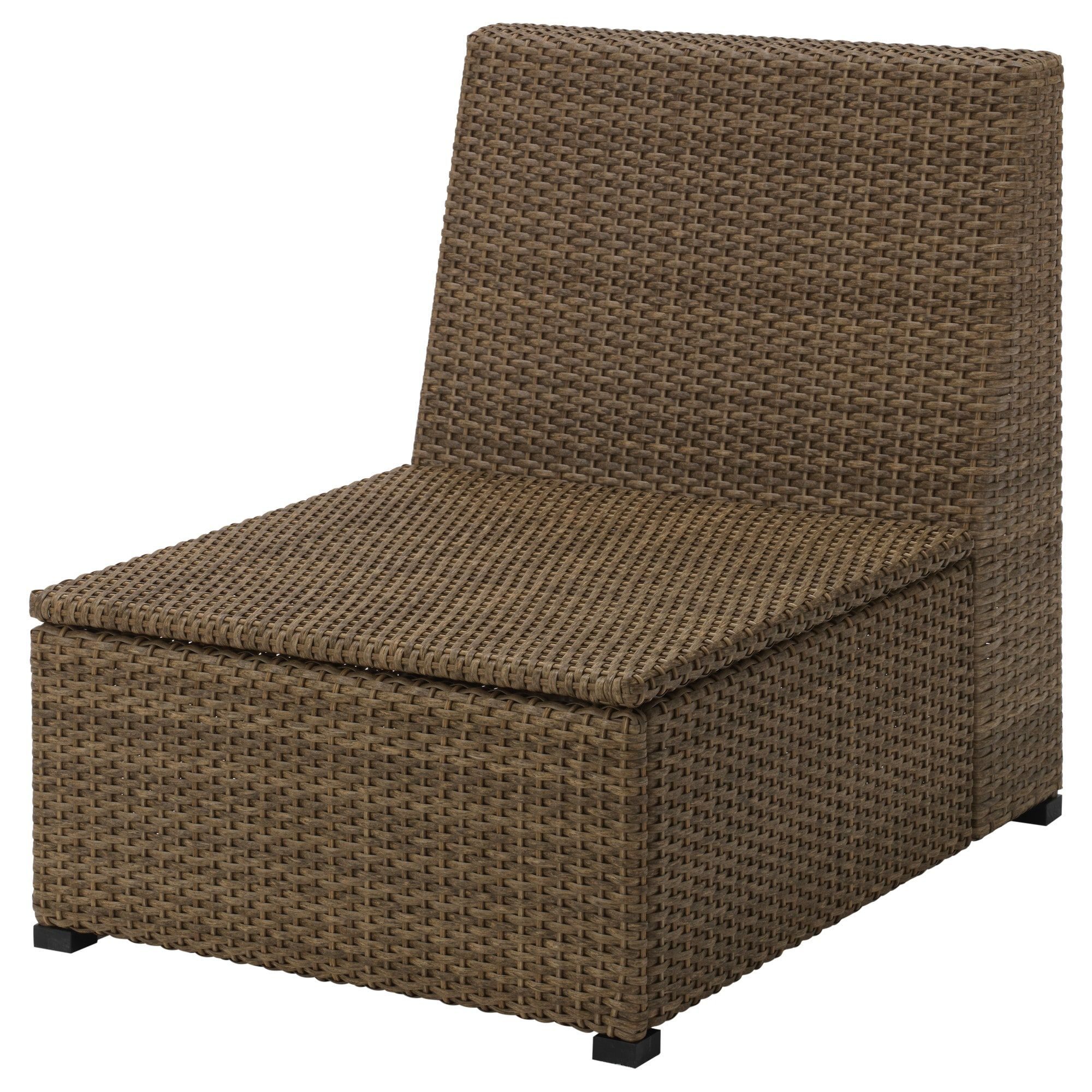Divano In Rattan Ikea.Ikea Solleron One Seat Section Outdoor Brown Ikea New Home