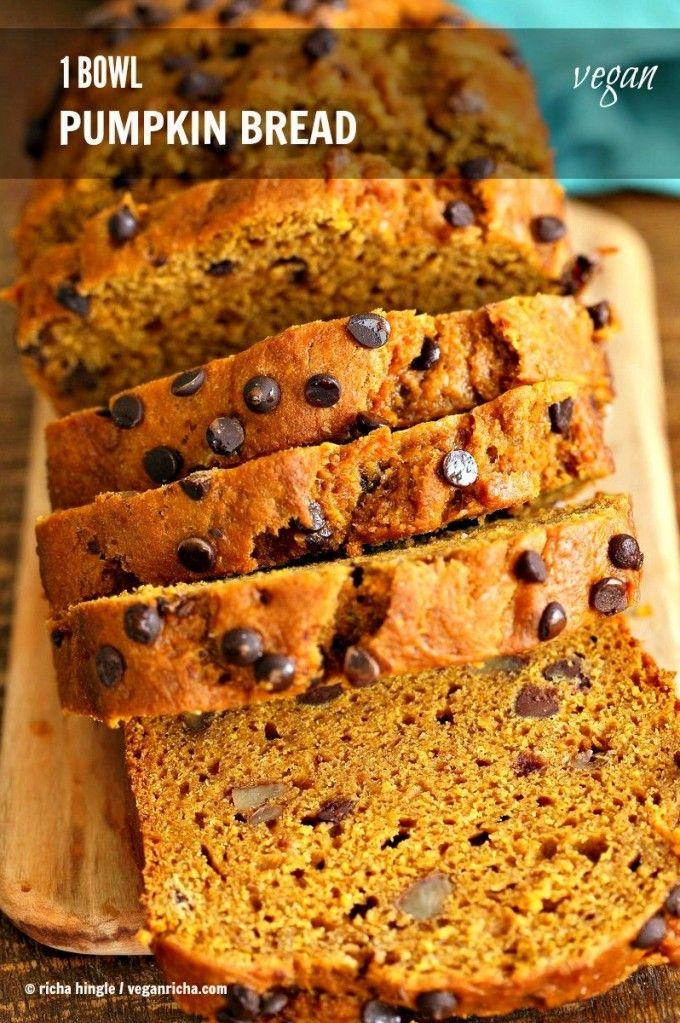 One Bowl Vegan Pumpkin Bread