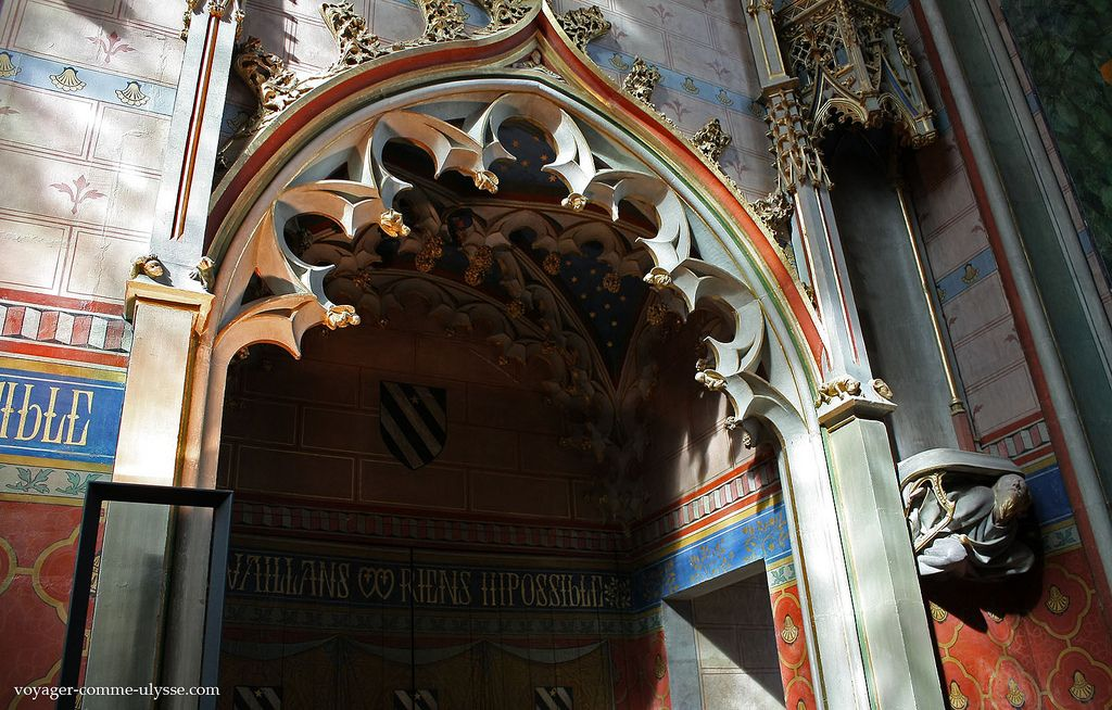 Oratoire de Jacques Cœur.Palais Jacques Cœur (XVe) . Bourges. Centre