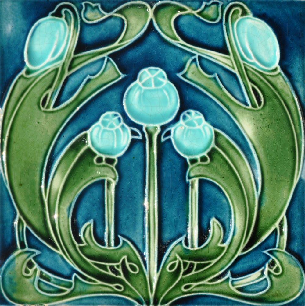 Lea & Boulton c1906/1908 - RS0809* - Art Nouveau Tiles