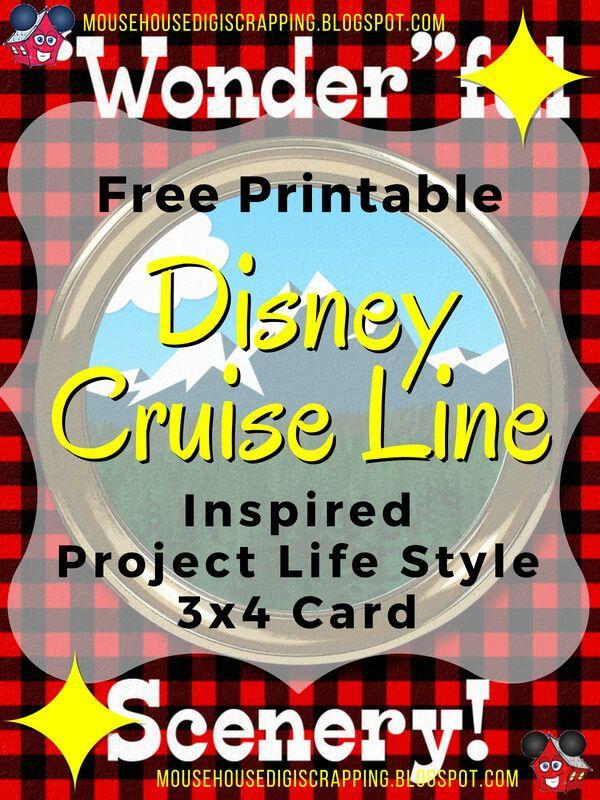 """'Wonder'ful Scenery"" Disney Cruise Inspired Project Life"