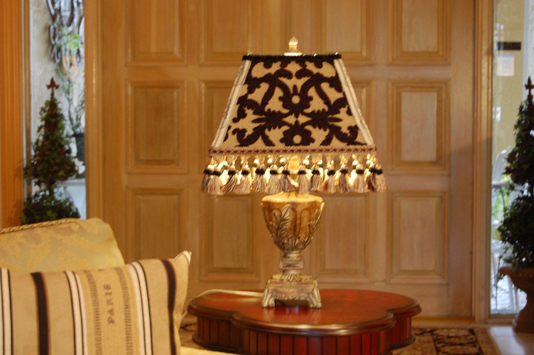 Custom Made Custom Made Black And Gold French Lamp Shade | lamps ...