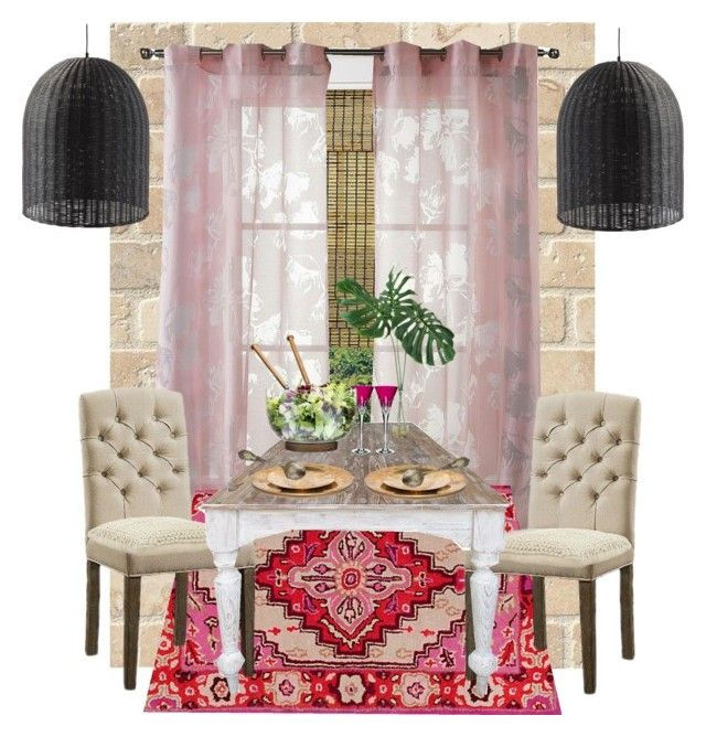"""""""Moroccan Dining"""" by serrealdesigns on Polyvore featuring interior, interiors, interior design, home, home decor, interior decorating, Kensie, Abbyson Living, Jayson Home and Rick Owens"""