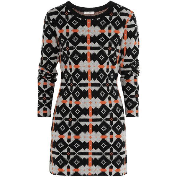 Emma Cook Merino wool-blend intarsia dress ($695) found on Polyvore