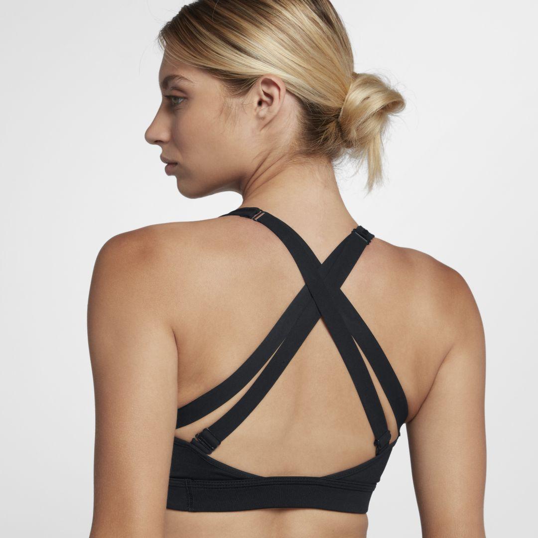 1a4181e397e8a Nike Impact Strappy Women s High Support Sports Bra Size XS (Black ...