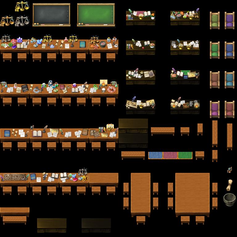 MV School Tile Set… | ROB'S RPGMAKER | Chalkboard window