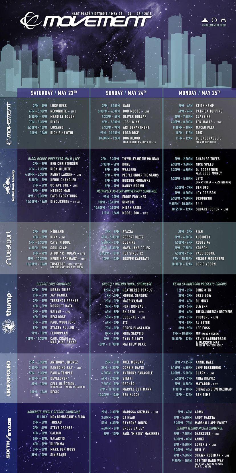 Movement 2015 Schedule Demf 2015 Dj Frequencies Detroit