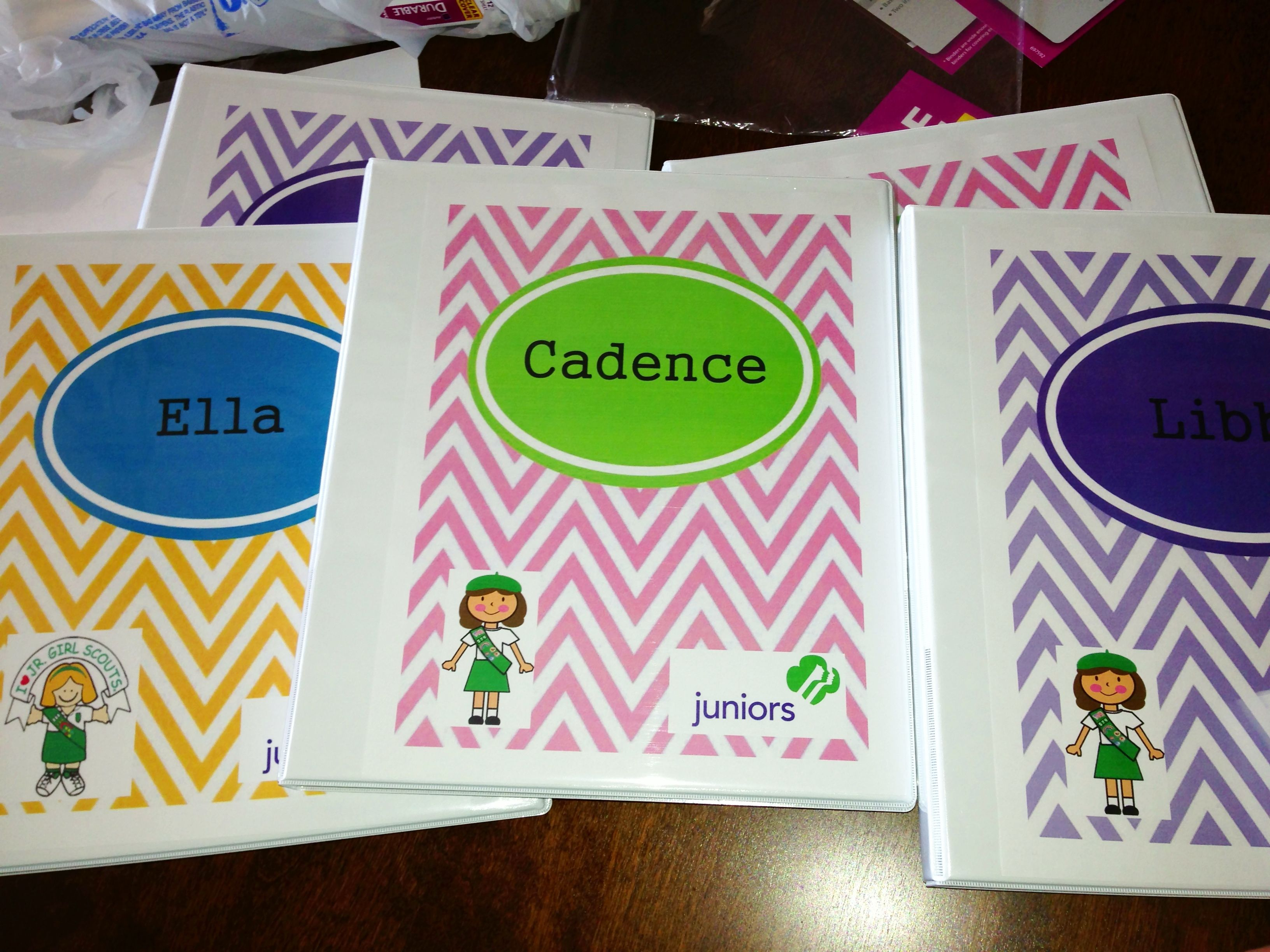 Custom Binder Covers For Junior Girl Scouts