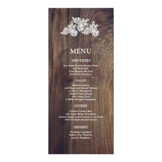 Expensive Wedding Gifts: Barn Wood Wedding Menu Cards