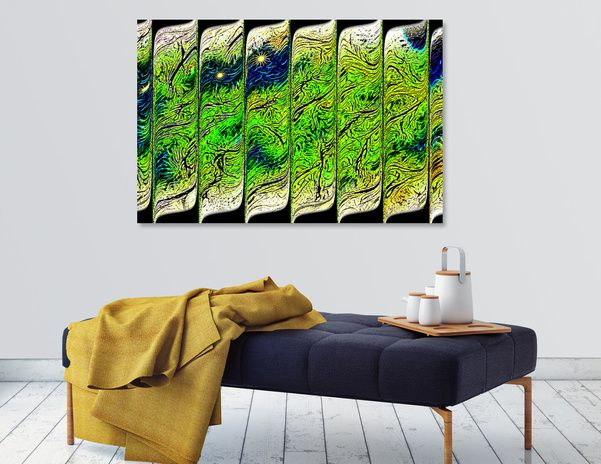 Discover «Starry Starry Nite», Limited Edition Canvas Print by Glink - From $59 - Curioos