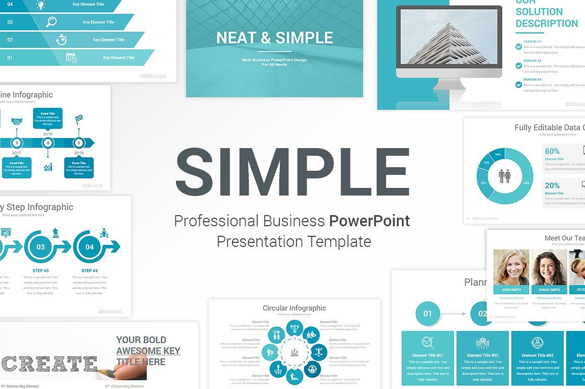 Simple Modern Powerpoint Template Powerpoint Templates Business Presentation Templates Background Powerpoint