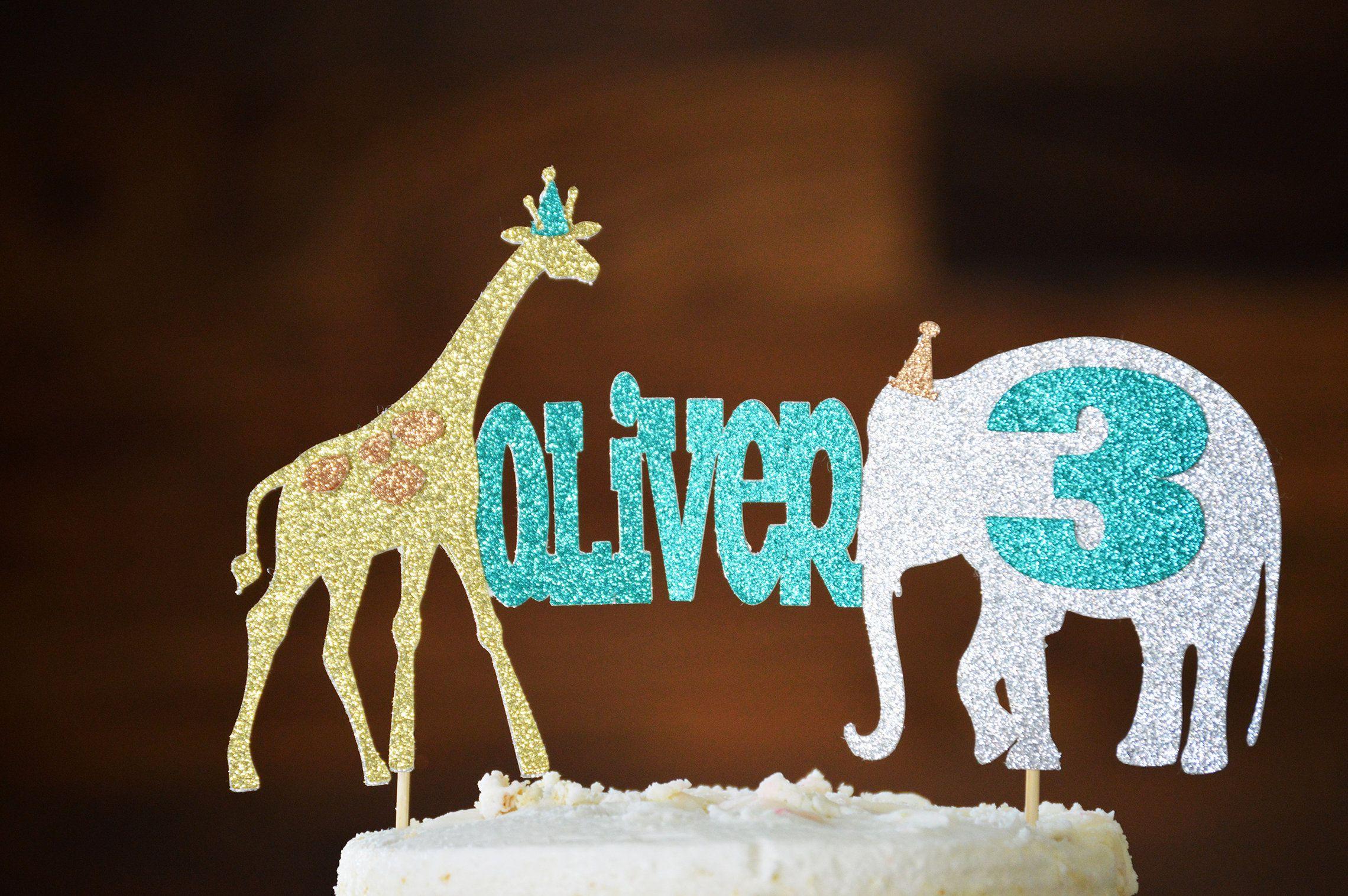 Party Animal Cake Topper Gold Jungle Birthday Safari Decoration By LucasAndMeCreations