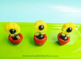 Kitchen Fun With My 3 Sons: Fruit Flower Snack for Mother's Day!
