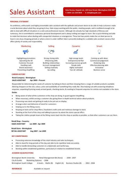 sales cv template, sales cv, account manager, sales rep, cv - marketing retail sample resume