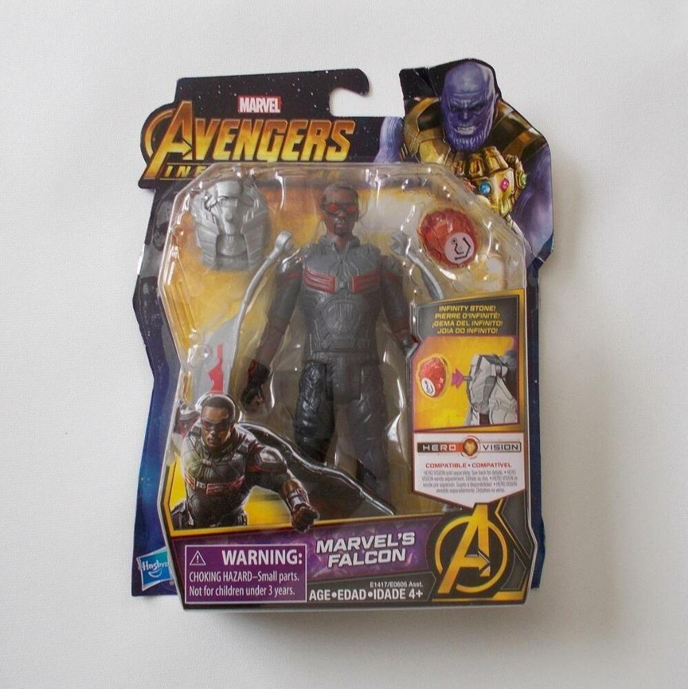 "Marvel/'s Falcon w// stone Marvel Avengers Infinity War Sealed 6/"" srs figure"