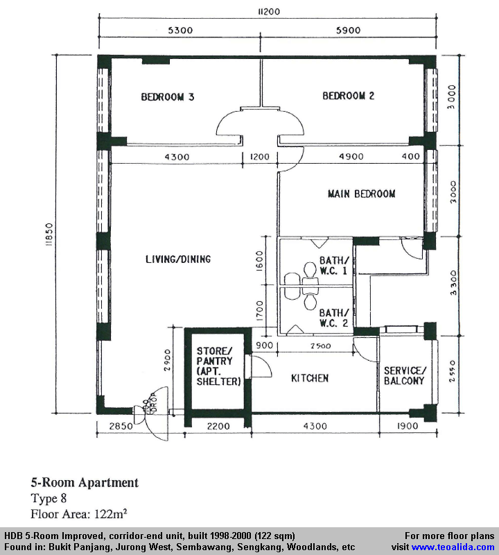 Hdb 5 Room Improved Floor Plan 120 Sqm Floor Plans Vintage House Plans How To Plan