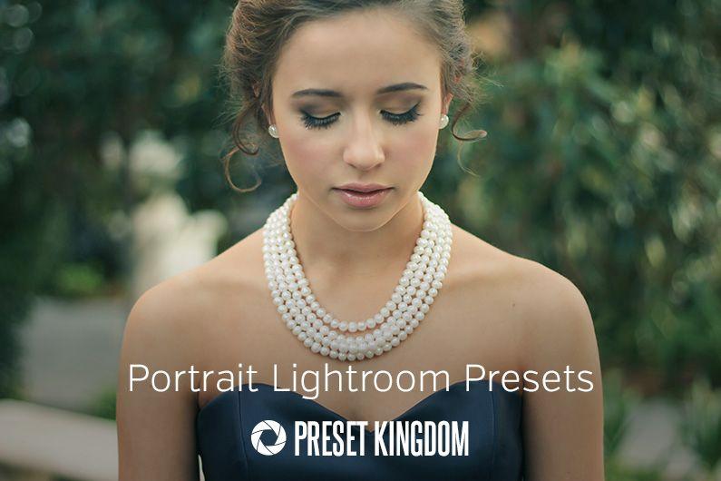 Portrait Lightroom Presets Fashion Pearl Statement Necklace Pearls