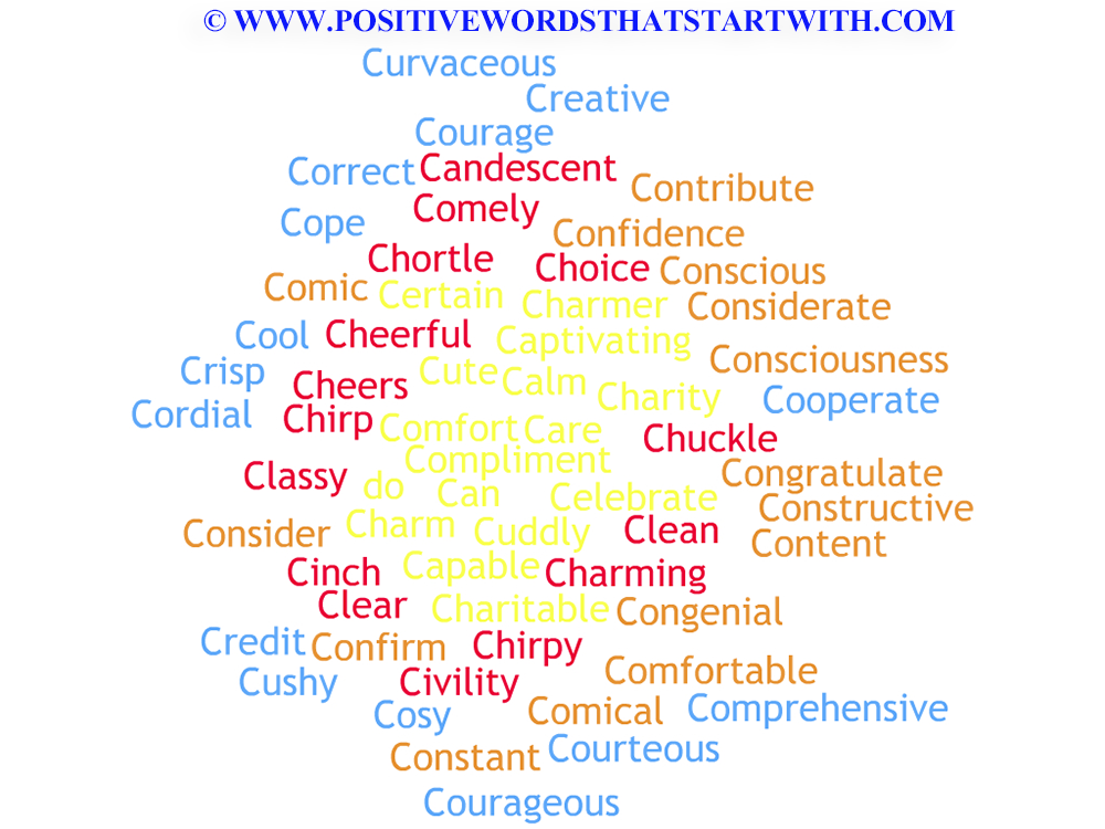 adjectives that start with a b positive words that start with c image right brain 26829 | 07d4da221f4637f6f79a291d54961a03