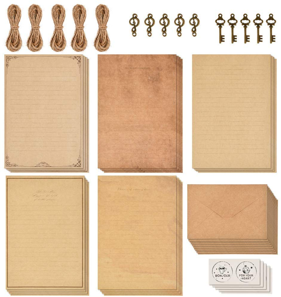 Amazon Com Ofnmy 5 Sets Of Vintage Stationary Paper Envelopes Writing Stationery Paper Letter Set 20 Sh In 2020 Vintage Stationary Letter Paper Stationery Paper