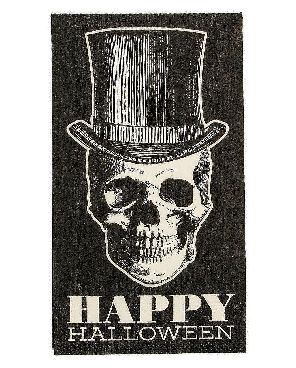 Hipster Totenkopf Servietten 16 St. kaufen #happyhalloweenschriftzug
