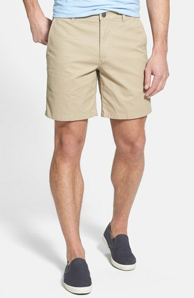 light blue tee. khaki shorts. navy blue TOMS. simple. casual ...