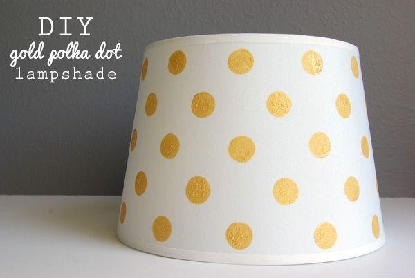 Diy Gold Dot Lampshade Painting Lamp Shades