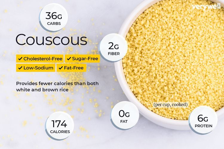 Is Couscous a Healthy Carb for Your Diet? | Rice nutrition facts. Couscous nutrition. Nutrition facts