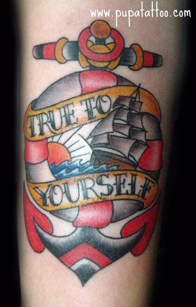 Tatuaje ancla pupa tattoo granada old school tattoo new for Tattoo school listings