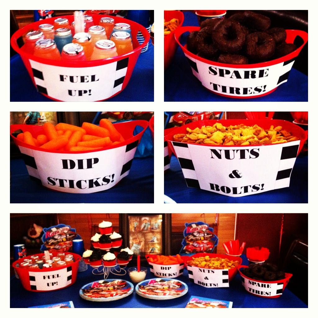 The party snacks for my sons racecar birthday party my stuff the party snacks for my sons racecar birthday party filmwisefo Choice Image