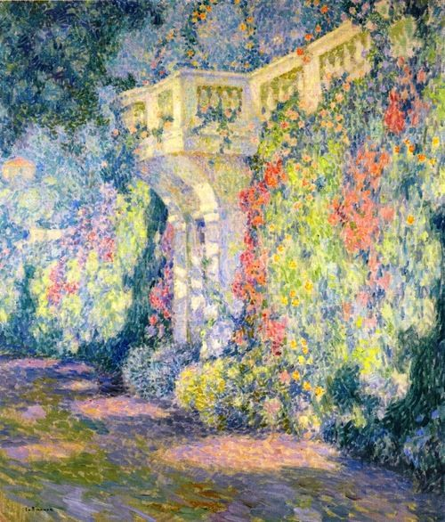 "Henri Le Sidaner - ""Balustrade, the Terrace Door""  1924"