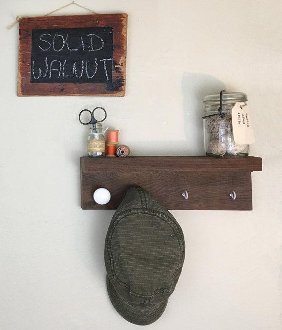 Beautiful Wall Shelf with Key Hooks