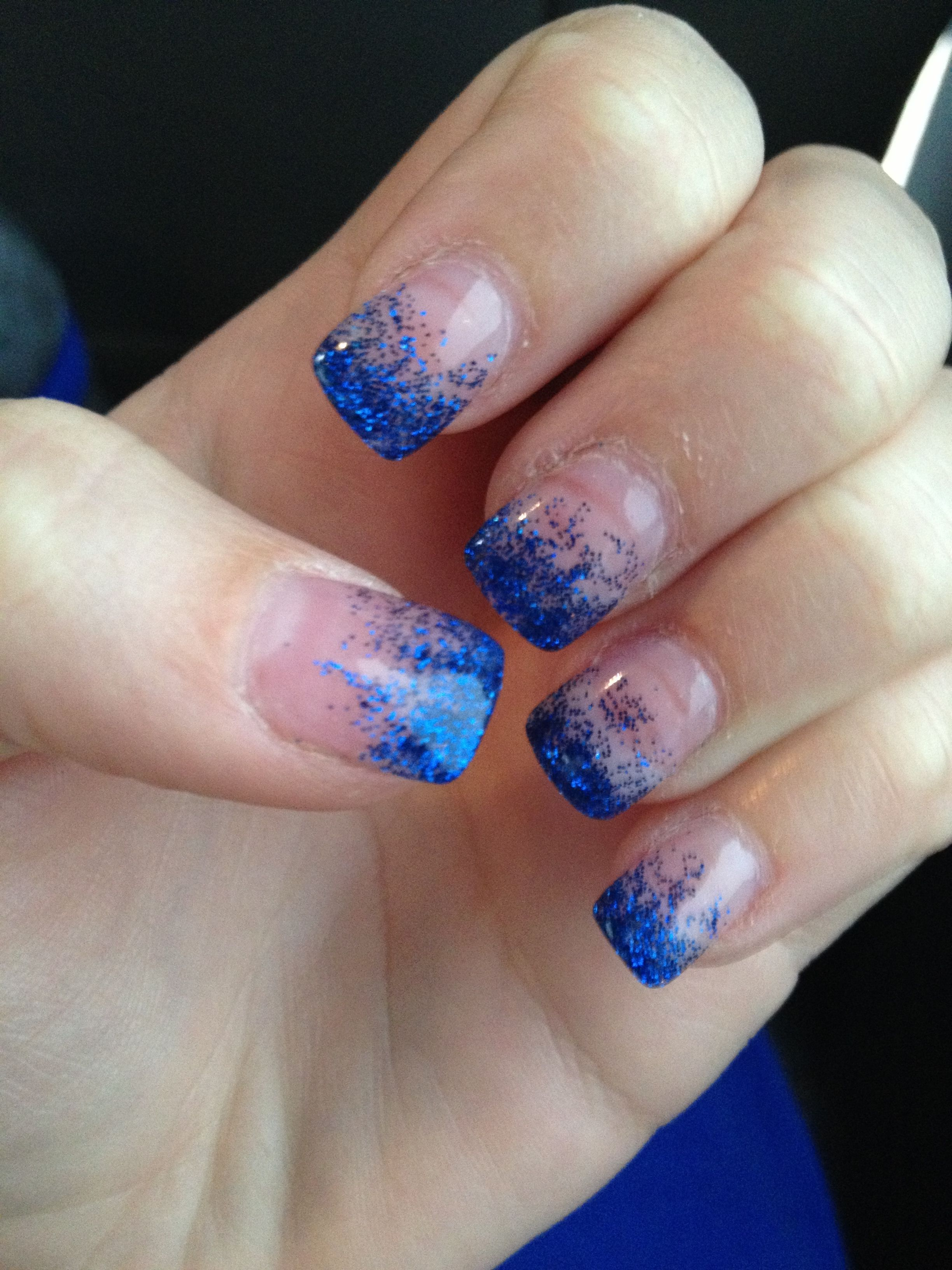 Pin By Alexa Murphy On Awesomeness Blue Prom Nails Prom Nails Royal Blue Nails