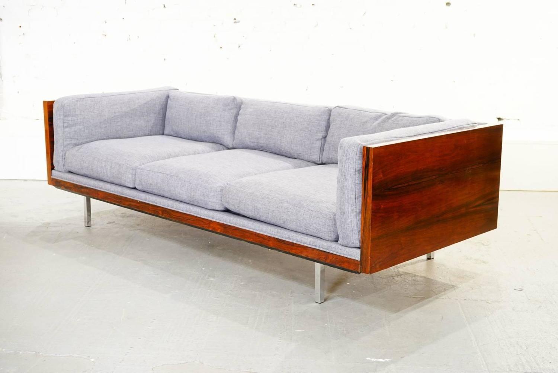 Rosewood Tuxedo Sofa By Milo Baughman For Thayer Coggin