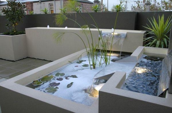 Décoration de jardin moderne avec bassin aquatique | Landscape ...