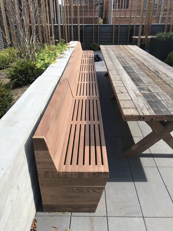 Enjoyable 20 Ft Solid Wooden Redwood Long Bench For Both Indoor And Machost Co Dining Chair Design Ideas Machostcouk