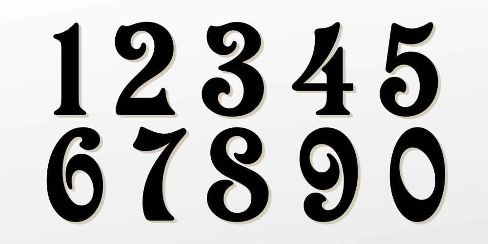 Victorian Graffiti Fonts Numbers Tattoos Pinterest