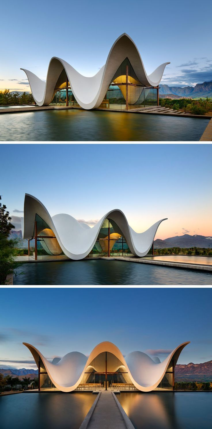 The Sculptural Design Of This Chapel Emulates The Mountains That Surround It #contemporarykitcheninterior
