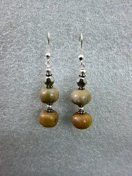 Drop Earrings with Yellow Sun Stone & Silver Finished$9.99