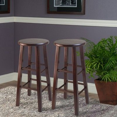 Incredible 29 Pacey 2Pc Bar Stool Set Antique Walnut Winsome Onthecornerstone Fun Painted Chair Ideas Images Onthecornerstoneorg