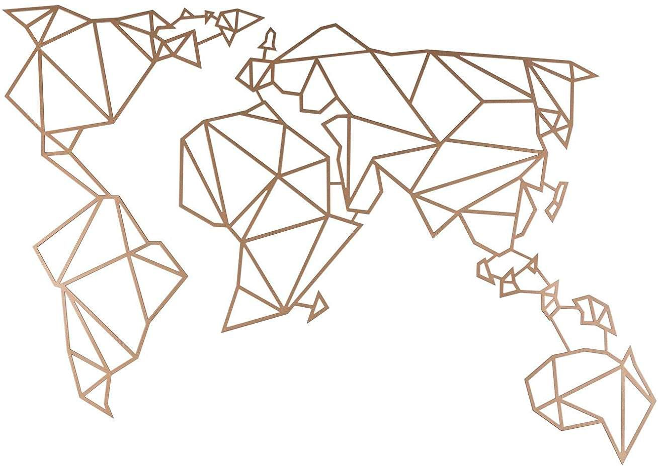 "Tapisserie /""Origami carte du monde/"" Sticker Autocollant Autocollant Déco"