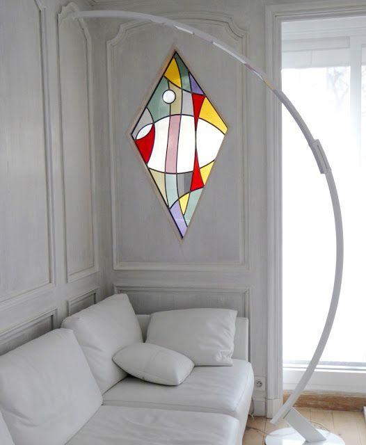 pingl par monteiro sur vitrail pinterest vitrail vitrail contemporain et peinture vitrail. Black Bedroom Furniture Sets. Home Design Ideas