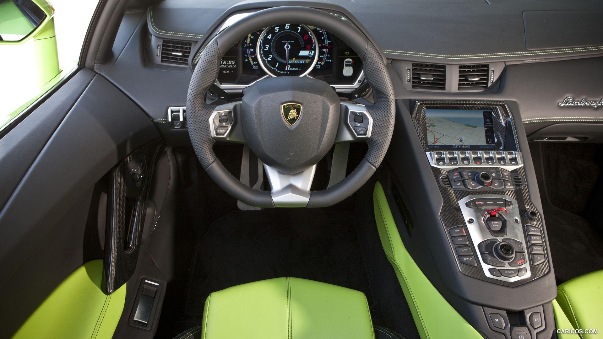 2014 Lamborghini Aventador LP 700-4 Roadster - Interior Detail   All ...