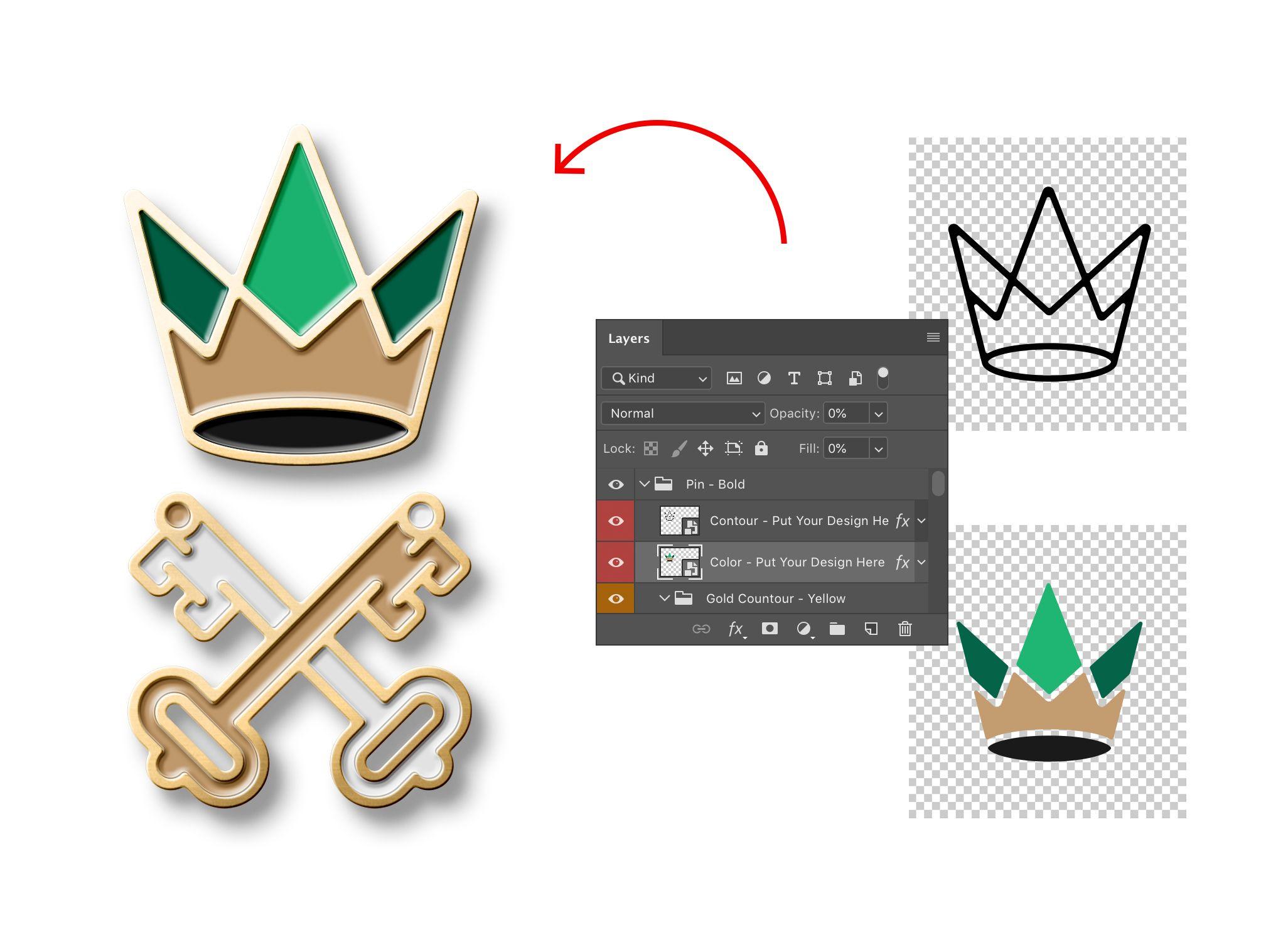 Logo Enamel Pin Mockup Download