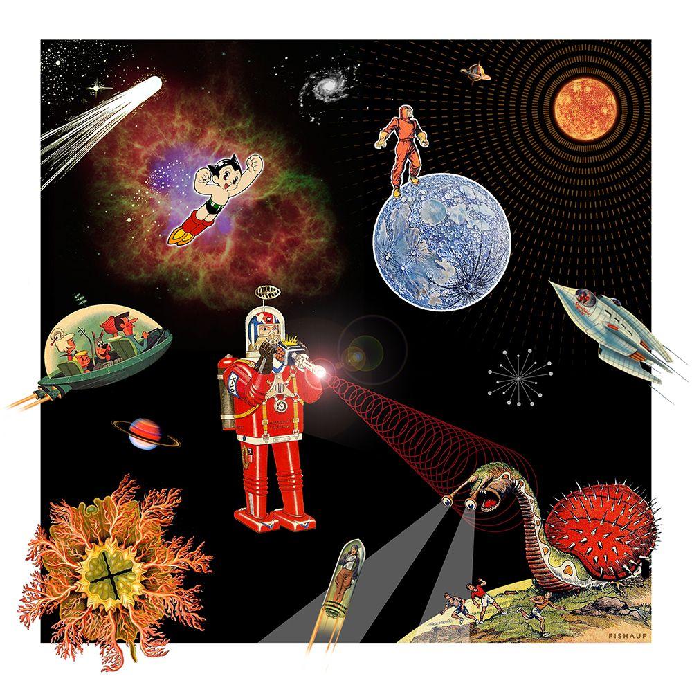 Louis Fishauf Digital Collage - SATANS CARWASH