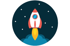 Turn 1 Into 44 From Every Email Whatever Call Me Rocket Drawing Flat Icon Graphic Illustration