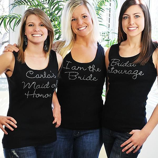 You and your best friends wear the same custom tank top. Cool!