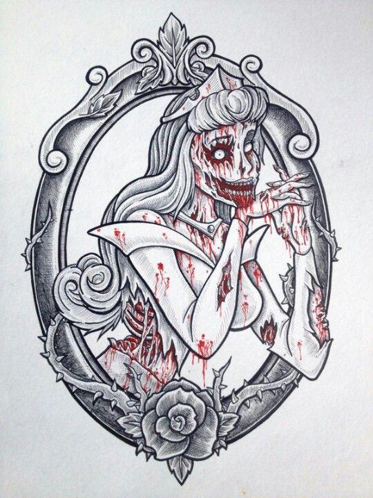 Zombie Disney Princess Tattoo Ideas Zombie Disney Zombie Tattoos Disney Princess Tattoo