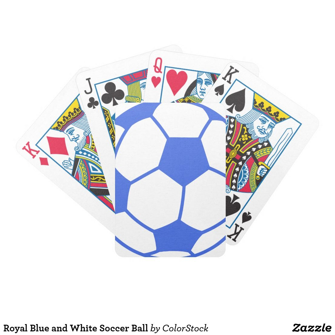 Royal Blue And White Soccer Ball Bicycle Playing Cards Zazzle Com Bicycle Playing Cards Soccer Ball Soccer Inspiration