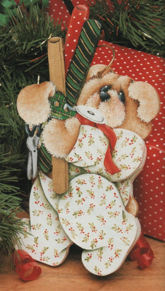 6 Wrappin' Teddy ornaments design by by OurPricelessTreasure