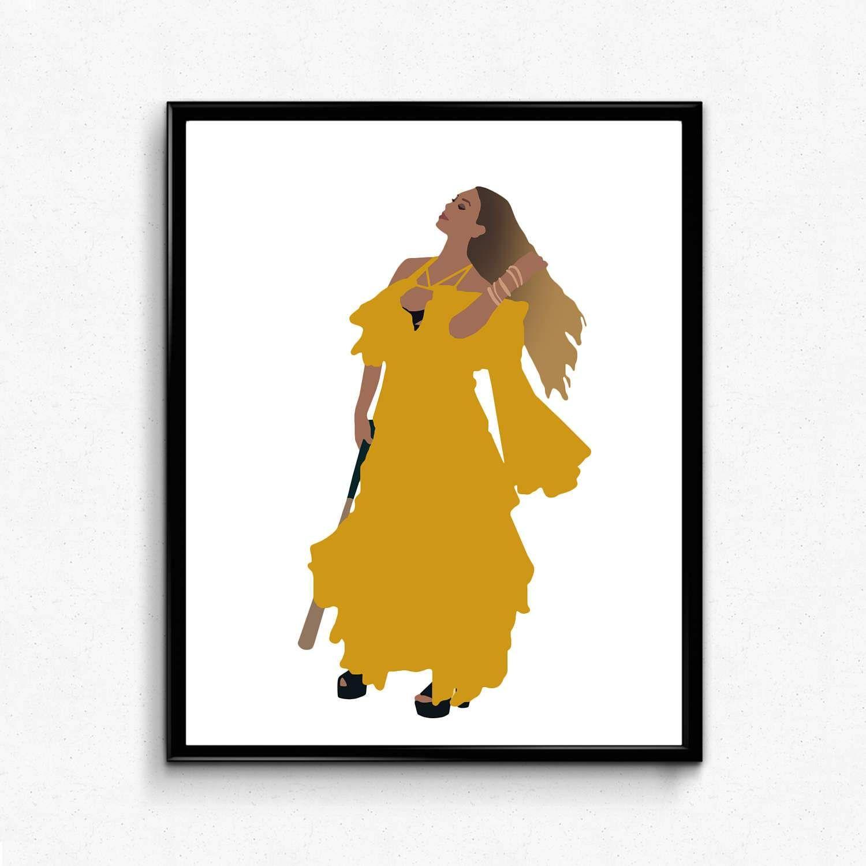 "Beyonce Lemonade poster wall decoration photo print 24/"" x 24/"" inches"